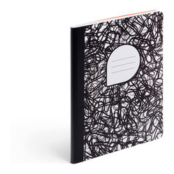 Composition Notebook, Black+White