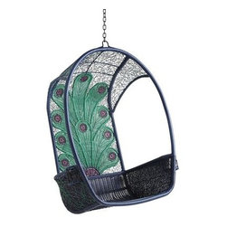 Swingasan Chair, Peacock - My kids have this chair swing and love to cozy up and read a book in it. It's the perfect outdoor piece for kids.