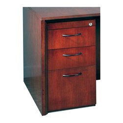 Mayline - Mayline Corsica 3 Drawer Pedestal File for Credenza/Return in Mahogany - Mayline - Filing Cabinets - CBBFCMAH -