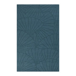 "Surya - Surya Shell SHE-1000 (Pacific Blue) 3'3"" x 5'3"" Rug - This Hand Loomed rug would make a great addition to any room in the house. The plush feel and durability of this rug will make it a must for your home. Free Shipping - Quick Delivery - Satisfaction Guaranteed"