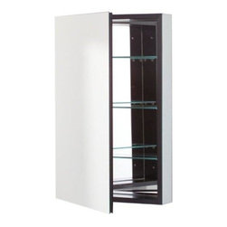 Robern - Robern PLM2430BBLE PL Series Flat Beveled Mirrored Door, Black - Robern PLM2430BBLE PL Series Flat Beveled Mirrored Door, Black