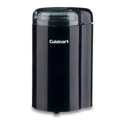 Cuisinart/Waring - Coffee Grinder Black - Stainless steel bowl and blade provides superior grinding and durability. 2.5 ounce capacity grinds enough for 12 cups of coffee. Cord storage.            Color=Black