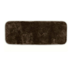 "Sands Rug - Posh Plush Cafe Noir Washable Bath Rug (1'10"" x 5') - Revel in spa-like luxury every time you step into your bath with the Posh Plush collection of bath rugs. The amazingly soft, yet durable, nylon plush is machine washable, and each floor piece has a non-skid latex backing for safety."