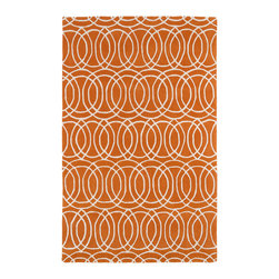 Kaleen - Kaleen Revolution Collection Rev02-89 3'X5' Orange - The color Revolution is here! Trendy patterns with a fashion forward twist of the hottest color combinations in a rug collection today. Transform a room with the complete color makeover you were hoping for and leaving your friends jealous at the same time! Each rug is hand-tufted and hand-carved for added texture in India, with a 100% soft luxurious wool.