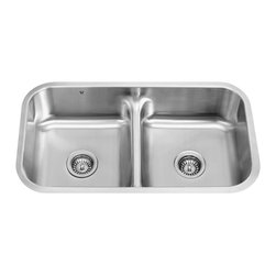VIGO Industries - VIGO 32-inch Undermount  18 Gauge Double Bowl Kitchen, Stainless Steel, Sink - The VIGO undermount kitchen sink complements any decor and is highly functional. Every design detail is featured in this sink to meet your needs.