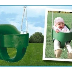 "Bucket Toddler Swing - Make swinging safe and enjoyable for little ones with Creative Playthings' Bucket Toddler Swing.This commercial-grade swing boasts a """"spring steel"""" insert and is available in your choice of rope or chain attachments. The shortened attachment allows you to push your child easily without hunching over. A playground essential brought to your backyard this swing attaches to most Creative Playthings' swing sets. Thanks to Ny-Glide hardware on the swing beam additional hardware isn't necessary.About Creative PlaythingsSince 1951 Creative Playthings has been building wooden swing sets and swing set accessories at their plant in Emporia Virginia. Creative Playthings cares deeply about the lives of American children as well as the livelihood of their American workers and all of their play systems are proudly Made in the USA. Creating beautiful functional children's play sets are not the sole goal at Creative Playthings' headquarters. The mission of Creative Playthings is to introduce exercise build self-confidence and develop the imaginations of young children so that they can grow to be well-rounded teens and adults. And for them that mission starts in the backyard."