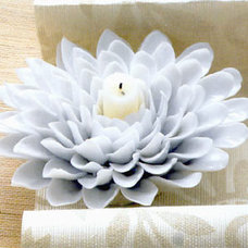 modern outdoor lighting Roost Porcelain Flower Candle Holder