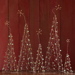 Wirework Holiday Forest, Set of 5