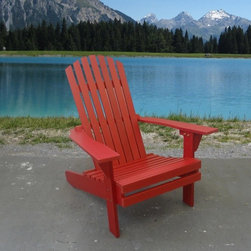 Outdoor Furniture - Poly wood adirondack chair with partially recycled plastic planks - Muskoka by Beliani