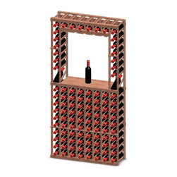 Vinotemp - Decanter Wine Rack - Floor standing. Made from premium redwood. Fits 102 bottles. 25.62 in. W x 12 in. D x 73.37 in. H (80 lbs.). Minimal assembly required. Made in USA. Custom made: 8 to 10 weeks lead time. Provides an attractive and functional wine storage area. Designed to keep safely organized individually. 3.75 in. racking. Fit most 750-ml bottles. Holds all sizes wine bottles. Hand made. Completely customizable. WarrantyThese racks are a great modular option to build your own wine room.