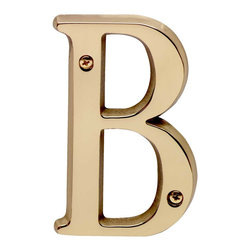 "Renovators Supply - House Numbers Bright Solid Brass 4"" House Letter B - Made of solid brass, these polished die cast letters are made to withstand the elements. Measuring 4 in. high, they are easily seen from the curb. They will update your home's exterior!"