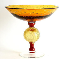 Artistica - Hand Made in Italy - ORIENTE: Footed Bowl - Undoubtedly Murano glass is synonymous unique beauty and masterful workmanship by highly skilled artisans, that literally from centuries create exceptional works of art!At Artistica we are proud to feature only authentic works of art, from renowned Murano artists.