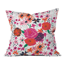 Vy La Bloomimg Love 1 Outdoor Throw Pillow - Do you hear that noise? it's your outdoor area begging for a facelift and what better way to turn up the chic than with our outdoor throw pillow collection? Made from water and mildew proof woven polyester, our indoor/outdoor throw pillow is the perfect way to add some vibrance and character to your boring outdoor furniture while giving the rain a run for its money.