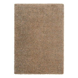 "Surya Rugs - Surya LXY1735 Luxury Shag Plush Almond Brown Rug - 100% Polypropylene. Style: Plush. Rugs Size: 5'3"" x 7'6"". Note: Image may vary from actual size mentioned."