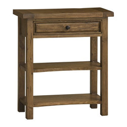 Hillsdale - Hillsdale Tuscan Retreat Single Drawer Console Table in Antique Pine - Hillsdale - Console Tables - 5225889W - Tuscan Retreat TM accent pieces are authentic artisan interpretations of old world and cottage furniture. Each piece is crafted from new and restored timbers to give it the appearance of a century old treasure. The finished are hand prepared from the sanding and scrapping to the final steps. Featuring solid wood throughout and old world cabinet construction. Every detail is designed to bring you years of enjoyment.