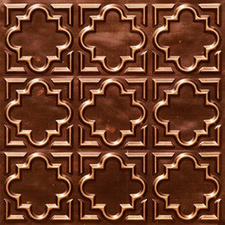 "Decorative Ceiling Tiles - Casablanca - Faux Tin Ceiling Tile - Glue up - 24""x24"" - #142 - Find copper, tin, aluminum and more styles of real metal ceiling tiles at affordable prices . We carry a huge selection and are always adding new style to our inventory."