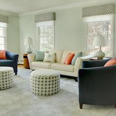 Contemporary Living Room by Elza B. Design, Inc.