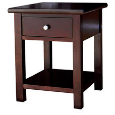 Austin Dark Birch End Table with 1 Drawer   Overstock.com
