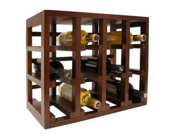Vinotemp - Stackable Wood Wine Rack in Brown Finish - Stackable cube wine rack. Perfect combination of function and style. Fits 12 bottles of universal size 3.75 in.. Made from wood. 19.09 in. W x 10.69 in. D x 15.75 in. H (8 lbs.). Warranty
