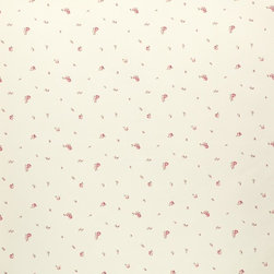 Wallpaper Worldwide - California - Petite Buds Wallpaper, Cream, Pink, Red - Material: Paper Backed. PVC.
