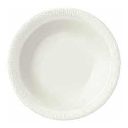 Iittala - Sarjaton Pasta Bowl Letti White - Whether you're serving up simple spaghetti or a more ambitious pasta dish, it's bound to look extra delicious in this bowl. Pure white porcelain with a delicate pattern along the border adds a tasty touch of sophistication.