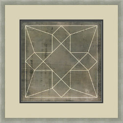 """Mantle Art Company - Vision Studio """"Geometric Blueprint V"""" fine art print - Beautiful modern art custom framed by designers to bring out the best in this piece of art. Made in the USA"""