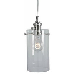 1-Light Clear Cylinder Pendant Light-25390-32 at The Home Depot