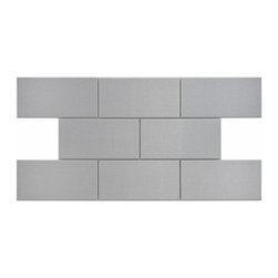 Somertile - SomerTile 3x6-in Alloy Stainless Steel Over Porcelain Mosaic Tile (Case of 64) - Add a designer-inspired backdrop to your kitchen or bathroom with this steel porcelain mosaic tile set. These decorative tiles are made of solid porcelain with a steel finish that imparts a lustrous sheen. They will add a contemporary look to any room.