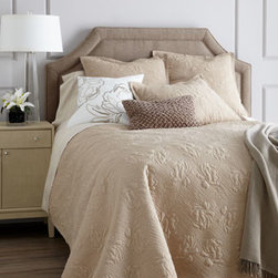 "SFERRA - SFERRA Full/Queen Quilt Set - Exclusively ours. The ""Annabelle"" bedding collection by Sferra offers inviting textures galore in colors to mix and match. Select color when ordering. Each floral-quilted cotton voile quilt set with polyester fill comes with two shams. Matching Eur..."