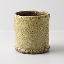 """Anthropologie - Aged Herb Pot, Cylinder - TerracottaWipe with a damp cloth4.75""""H, 4.5"""" diameterImported"""