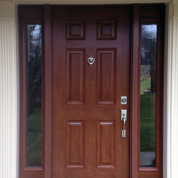 Doors - Provia fiberglass front entry door with full lite sidelites.  Installed by Nova Exteriors in Oakton, VA 22124.