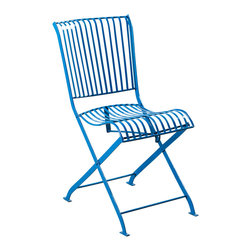 C.G. Sparks - Betty Folding Chair - Blue - Product Features: