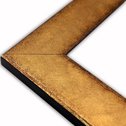 The Frame Guys - Flat Brushed Gold with Distressed Edge Picture Frame-Solid Wood-4x6 - *Flat Brushed Gold with Distressed Edge Picture Frame-Solid Wood-4x6