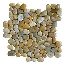marblesystems - Pebbles Mosaic - Create a natural stone mosaic pattern on your wall or floor with this gorgeous tile option. These pebble stones come in a variety of colors, and will bring Asian-inspired refinement to your bathroom decor.