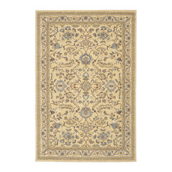 """Karastan - Karastan Sierra Mar 35505-33007 (Ventana Maize) 5'6"""" x 8'3"""" Rug - Comfortable, weathered, easy to live with color, is the signature style of the Sierra Mar collection, with relaxed patterns that complement both traditional and modern design. Woven in the U.S.A., the pure New Zealand worsted wool yarns have been specially twisted and space-dyed to create artful color 'stria' reminiscent of fine hand woven 'Peshawar' rugs."""
