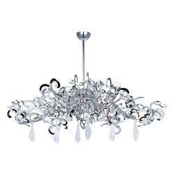 Maxim Lighting - Maxim Lighting 39847PN/CRY152 Tempest Nickel 9 Light Chandelier - 9 Bulbs, Bulb Type: 40 Watt G9 Xenon, Bulbs Included