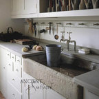 Mediterranean Kitchen Stone Sink - Image provided by 'Ancient Surfaces'