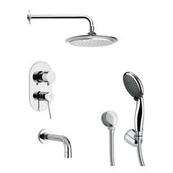 Remer - Tub and Shower Faucet Set with Multi Function Hand Shower - Multi function tub and shower faucet.