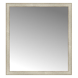 """Posters 2 Prints, LLC - 34"""" x 37"""" Libretto Antique Silver Custom Framed Mirror - 34"""" x 37"""" Custom Framed Mirror made by Posters 2 Prints. Standard glass with unrivaled selection of crafted mirror frames.  Protected with category II safety backing to keep glass fragments together should the mirror be accidentally broken.  Safe arrival guaranteed.  Made in the United States of America"""