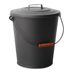 Uniflame - Uniflame C-1709B Black Ash Bin w/ Lid - Black Ash Bin w/ Lid belongs to Fireplace Accessories Collection by Uniflame