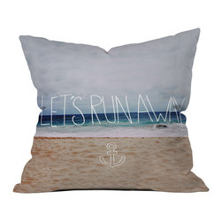 Leah Flores Lets Run Away Iii Outdoor Throw Pillow - Do you hear that noise? it's your outdoor area begging for a facelift and what better way to turn up the chic than with our outdoor throw pillow collection? Made from water and mildew proof woven polyester, our indoor/outdoor throw pillow is the perfect way to add some vibrance and character to your boring outdoor furniture while giving the rain a run for its money.