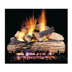 RH Peterson Gas Logs - RH Peterson Designer Plus Series Split Oak Gas Logs (18-inch) - Choose Size: 18-inch. Detailed split logs. Burners not included. Uses natural or propane gas. Vented gas log. Made of refractory ceramic. Lifetime warranty