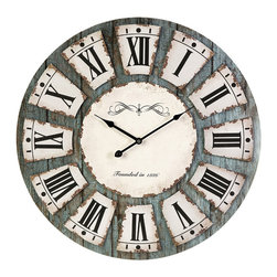 #N/A - Sabra Wall Clock - Sabra Wall Clock. Modem clock offers some traditional design features, this clock is perfect anywhere from industrial decor to shabby chic. Width: 23.75 in. Depth: 23.75 in. Height: 4 in.
