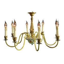 EuroLux Home - Consigned Vintage 1950 Italian Capodimonte Chandelier - Product Details