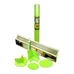 "Trugard Tru-Line - Trugard Shower Kit, 28"" Tru-Line Linear Drain, 110 Sqft, Classic Grate Style - Trugard Complete Shower Waterproofing Kit"
