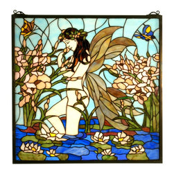 Meyda Tiffany - Meyda Tiffany 67520 Fairy Pond Tiffany Window - Meyda Tiffany 67520 Fairy Pond Tiffany Window
