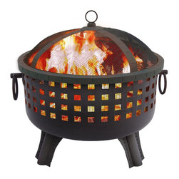 Landmann 23 1/2-Inch Savannah Garden Light Fire Pit, Black - What better way to end an outdoor gathering than a cozy fire? I love serving s'mores, no matter the age of my guests, and maybe even some pigs in a blanket.