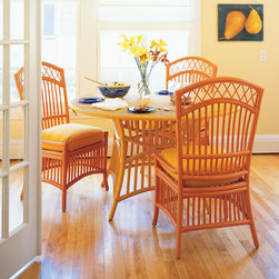 Daisy Dining Table - Daisy Wicker is fresh and beautiful. No two ways about it. Whether you're dining or just sittin' around relaxing, Daisy is the perfect table at which to do it. Available in any one of our 50 signature Maine Cottage® colors.