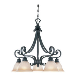 Designers Fountain - Designers Fountain Barcelona 1 Tier Chandelier in Natural Iron - Shown in picture: Barcelona Chandelier in Natural Iron finish