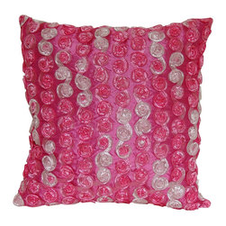 Pillow Perfect - Honeycomb Fuchsia Throw Pillow - Add the perfect blend of style and comfort to any space in your home with this 16.5-inch pink and white fancy throw pillow from Pillow Perfect. This vibrant pillow is filled with recycled virgin polyester fiber,giving it a soft feeling.